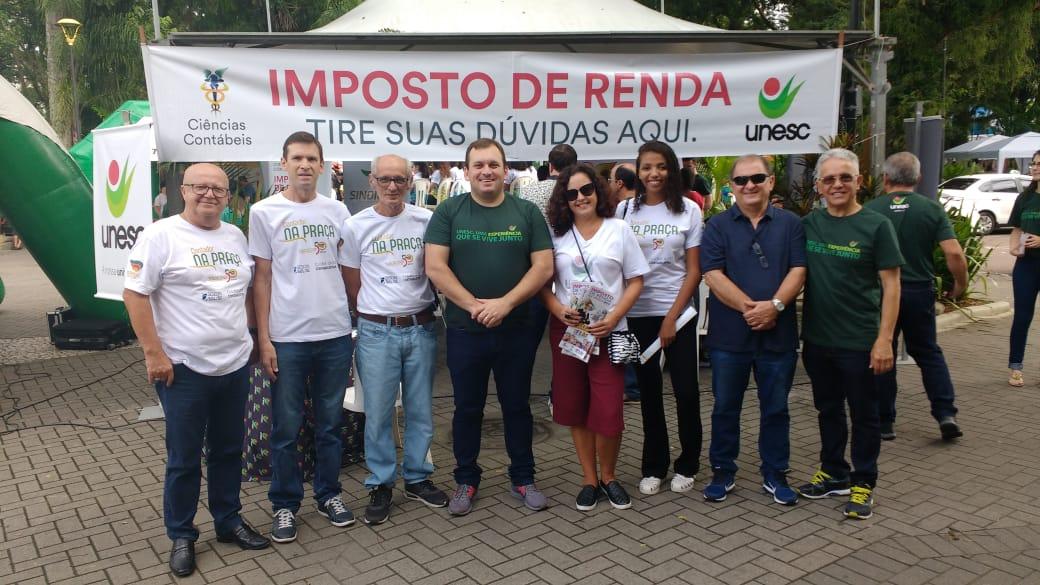Sindicont parceiro da Unesc no projeto Imposto de Renda na Praça - abril 2019